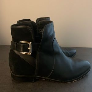 Black Michael Kors leather/suede booties size 6